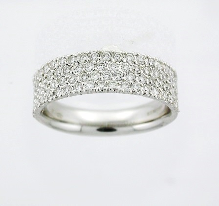 french pave jewelers gold mullen wedding white bands band products diamond